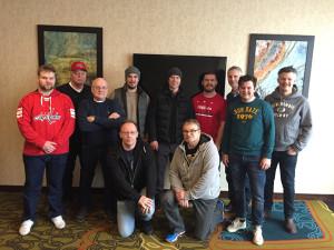 NHL-Gruppen i Washington samlade tillsammans med spelarna i capitals. Markus Johansson och Nicklas Bäckström