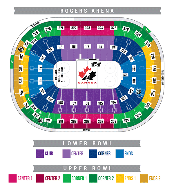 Rogers Arena - Color Codes