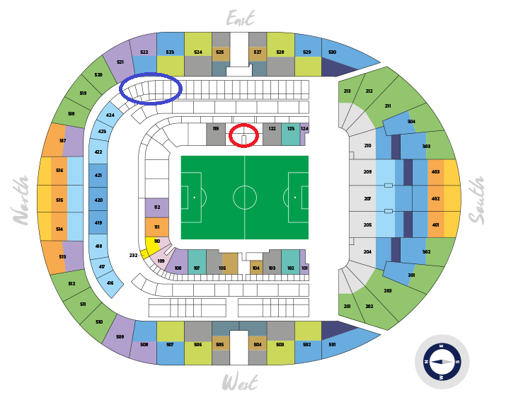 Tottenham Stadium Seat Plan